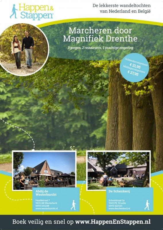Marcheren door magnifiek Drenthe