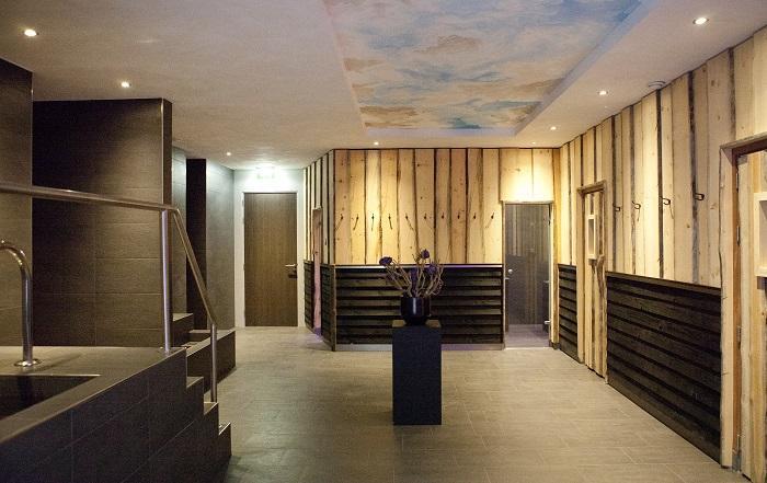 Wellness hotel Drenthe saunaplein