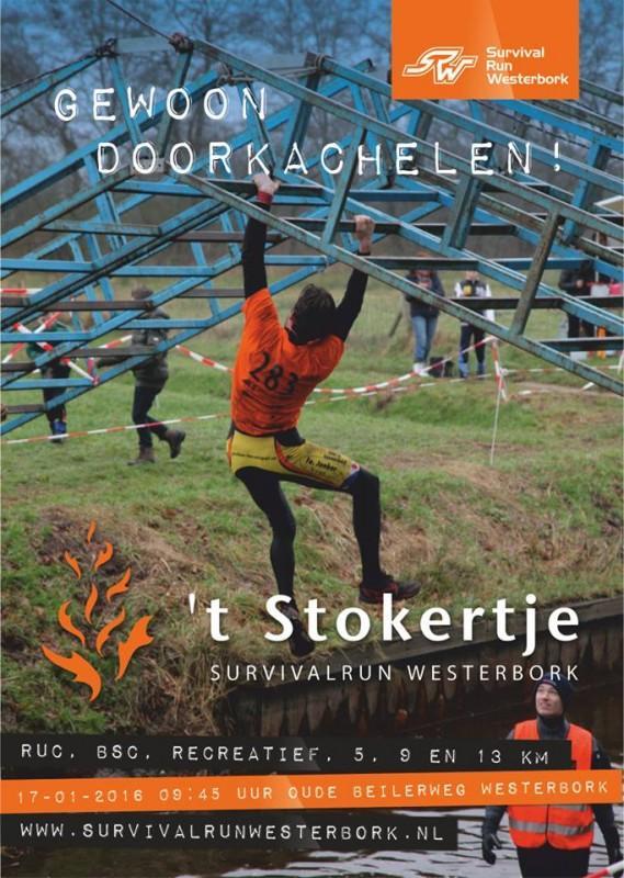 't Stokertje Survivalrun Westerbork 15 januari 2017