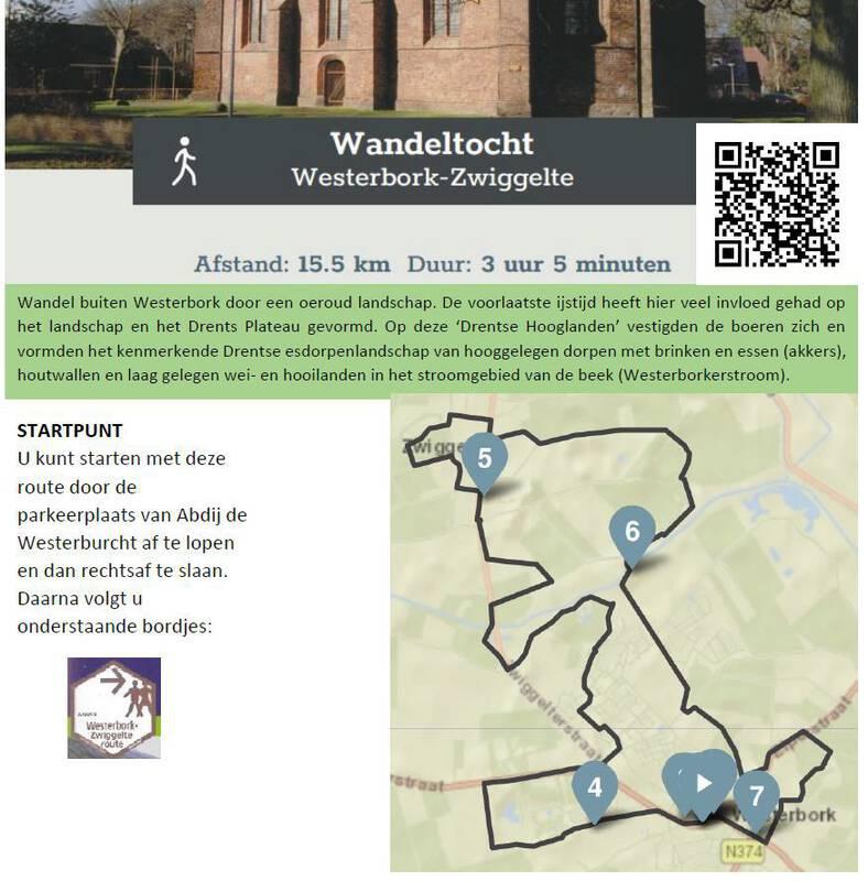 Westerbork-Zwiggelte route
